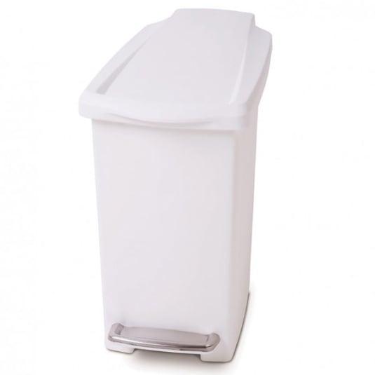 Simplehuman White 10 Litre Plastic Bin