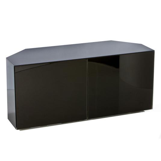 "Invictus Black High Gloss Corner TV Stand for up to 55"" TVs"