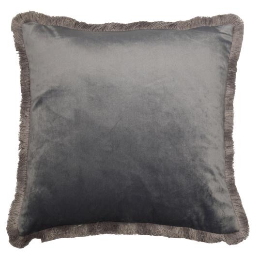 Malini Meghan Grey Velvet Cushion