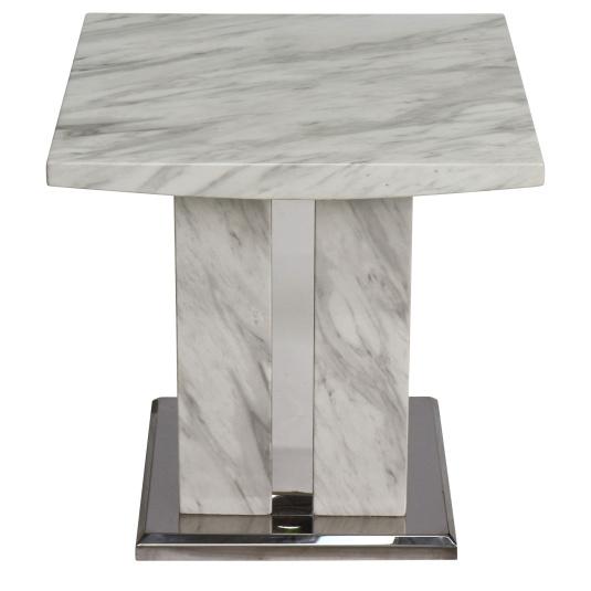 Montero White Marble Lamp Table