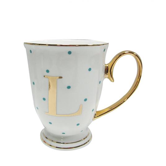Alphabet Spotty Mug - L