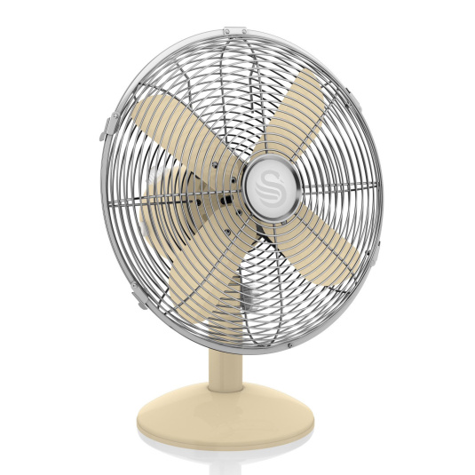 Swan Retro Cream 12 Inch Desk Fan