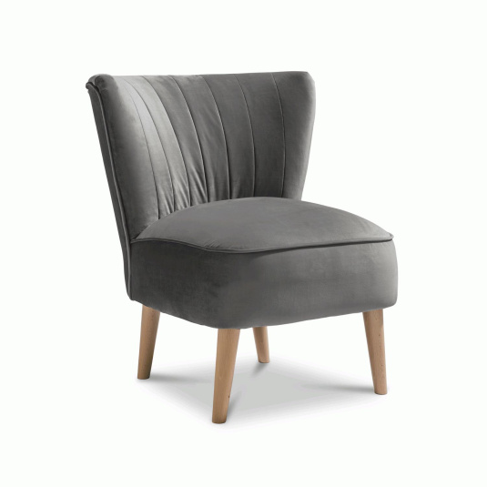 Plush Steel Accent Emperor Chair