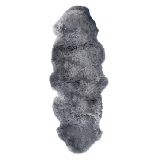 Double Grey Sheepskin Rug