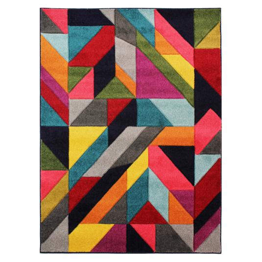 Spectrum Jigsaw Multi 80cm x 150cm Rug