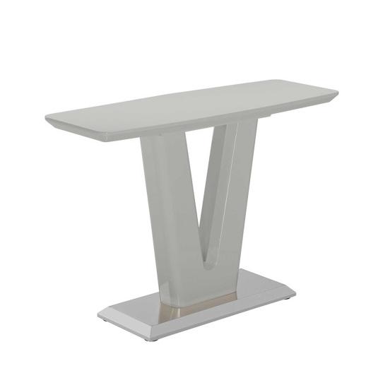 Vigo High Gloss Grey Console Table