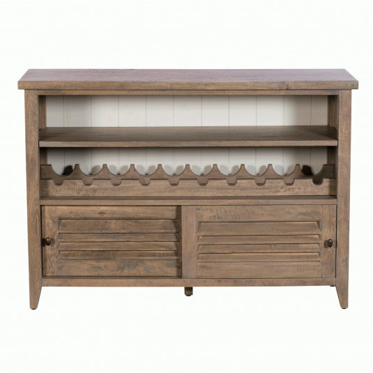 Milton Mango Wood Sliding Door Console Table