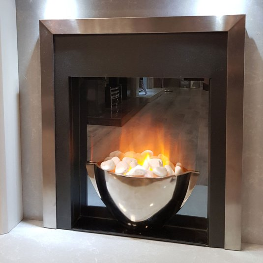Detroit Silver Inset Electric Fire
