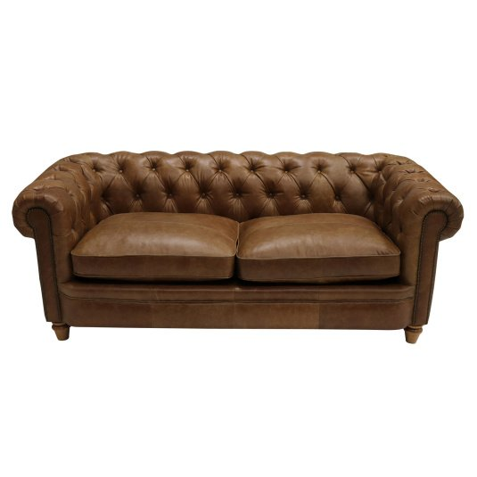 Lawson Tan Leather Large Sofa