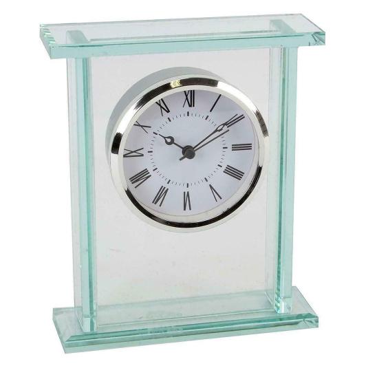 Glass Bezel Mantel Clock