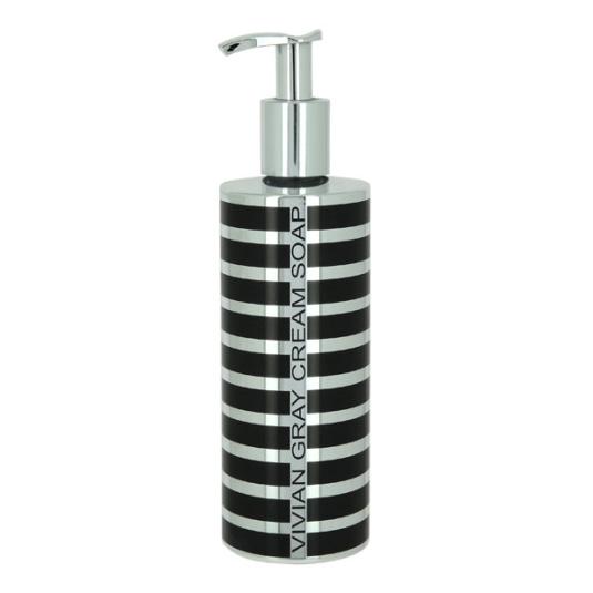 Vivian Gray Silver Stripes Soap Dispenser