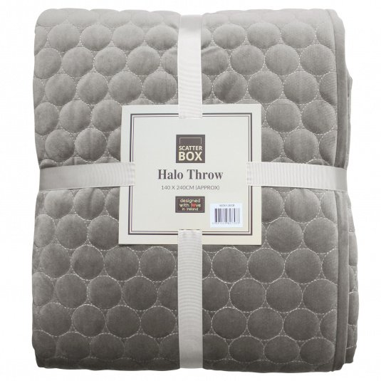 Scatter Box Halo Taupe Bedspread