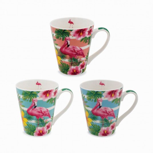Exotic Tapered Flamingos Mug