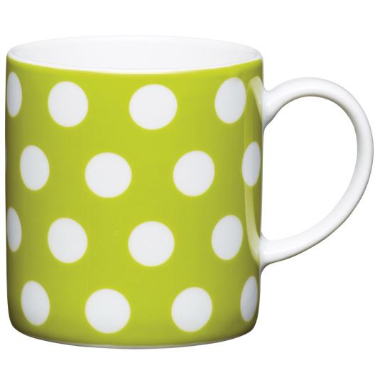 Green Polka Dot Porcelain Expresso Cup