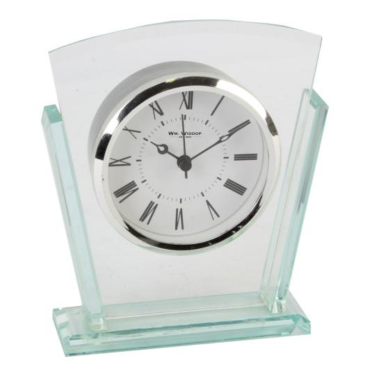 Layered Glass Mantel Clock