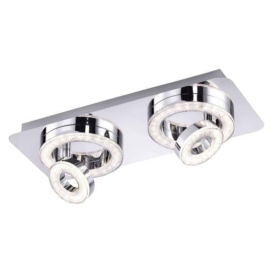 Tim LED Two Flush Ceiling Light
