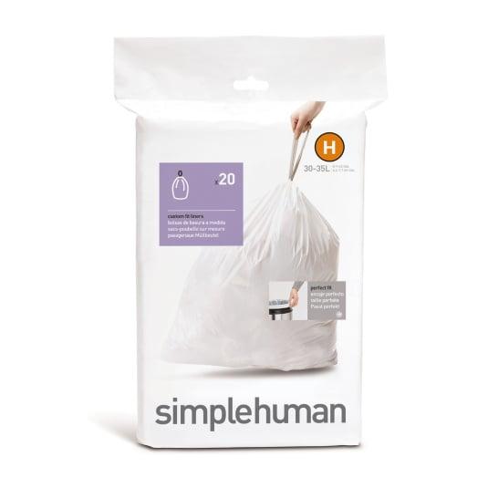 Simplehuman 30 Litre Sure Fit Bin Liners - Size H