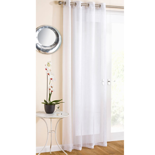"Marrakesh White Panel Curtains 55"" x 54"""