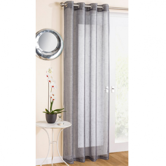 "Marrakesh Grey Panel Curtains 55"" x 54"""