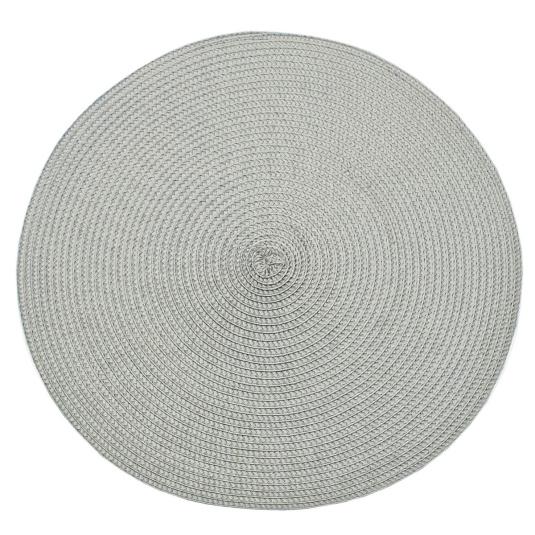 Circular Ribbed Dove Grey Placemat