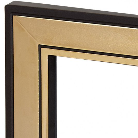 Verine Fires Ultimo Black and Gold Fire Trim
