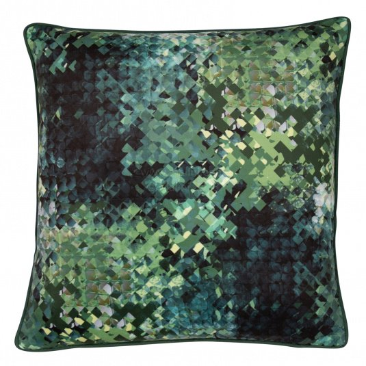 Malini Hudson Pixelated Green Cushion