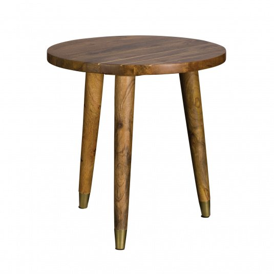 Drift Mango Wood Round Lamp Table