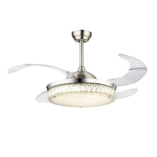 Globo Cabrera Chrome Fan Pendant Light