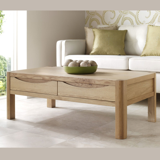 Oslo Light Oak Compact Coffee Table