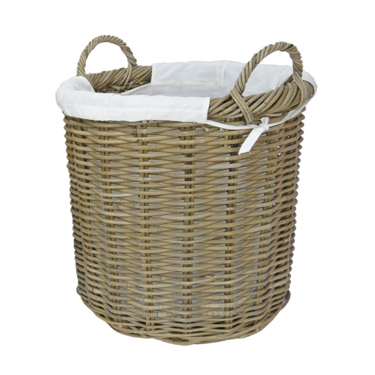 Langham Rattan Medium Log Basket
