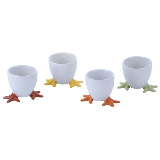 Set of 4 Chicken Feet Egg Cups
