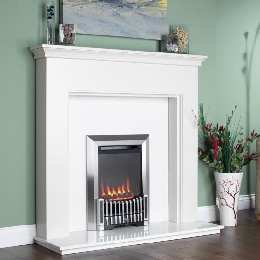 Flavel Orchestra Balanced Flue Silver Gas Fire