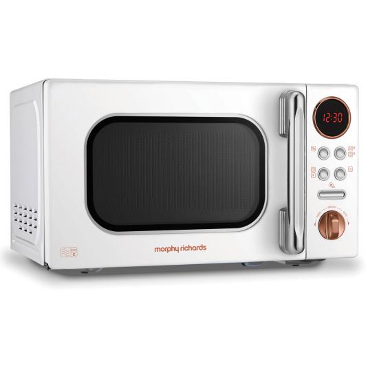 Morphy Richards Evoke Rose Gold & White 20 Litre Microwave