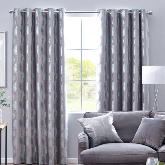 Belfield Enchanted Forest Silver 90x72 Curtains