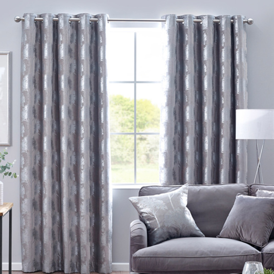 Belfield Enchanted Forest Silver 66x54 Curtains