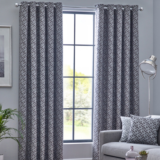 Belfield Byron Graphite 66x54 Curtains