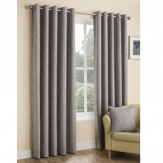 Belfield Huxley Silver Curtains 90 x 72