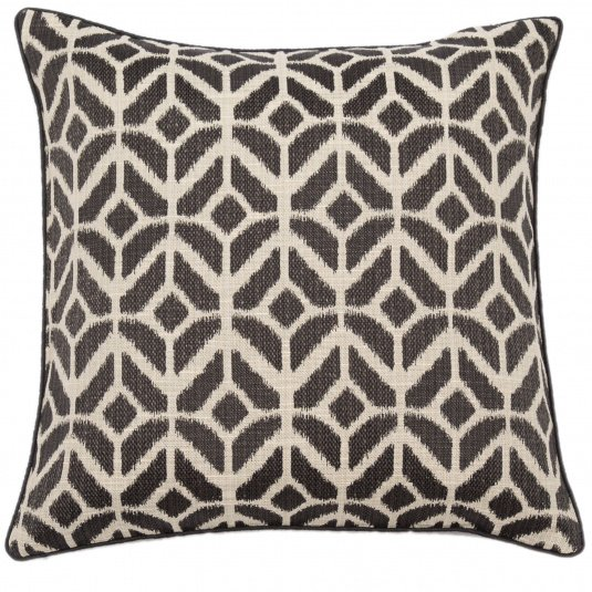 Malini Samark Black Tribal Cushion