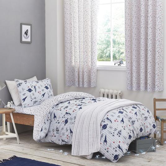 Bianca Space Print Cotton Single Duvet Set
