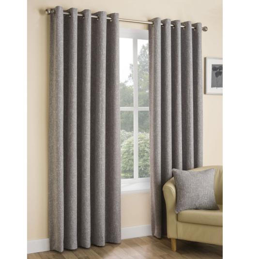 Belfield Huxley Silver Curtains 90 x 90