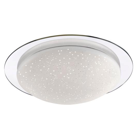 Skyler Large Chrome Flush Ceiling Light