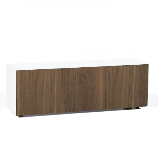 """Invictus White and Walnut TV Stand for up to 70"""" TVs - Self Build"""
