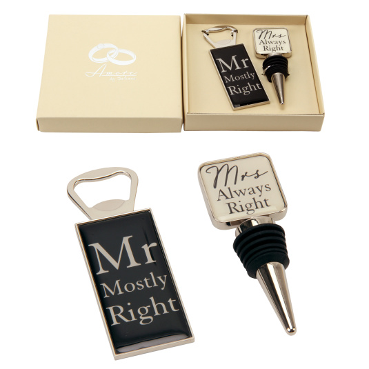 Amore Mr and Mrs Bottle Gift Set