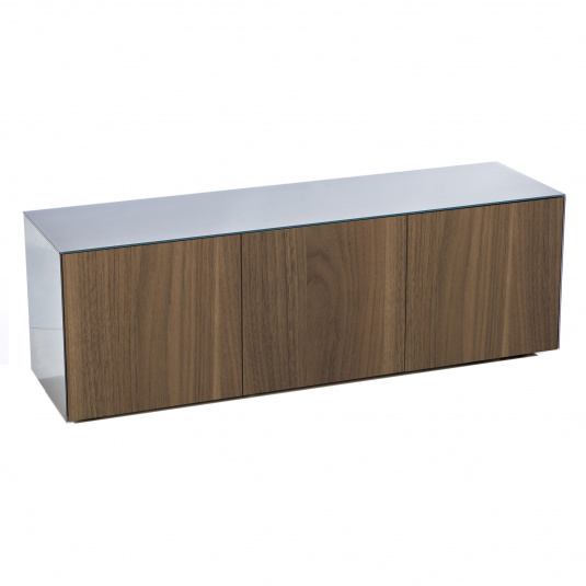 """Invictus Grey and Walnut TV Stand for up to 70"""" TVs - Self Build"""