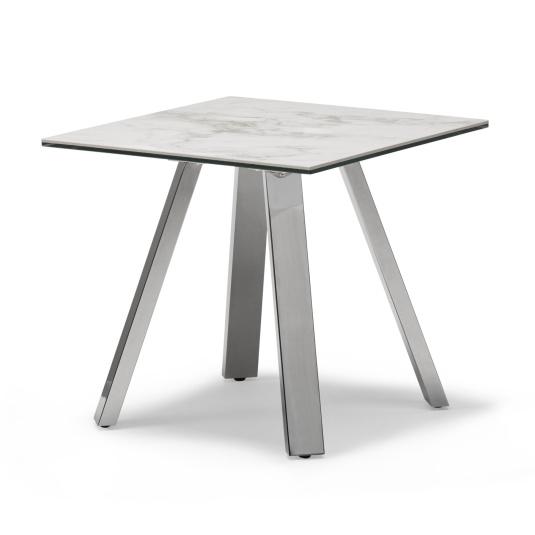 Ravenna Ceramic Marble Effect Side Table