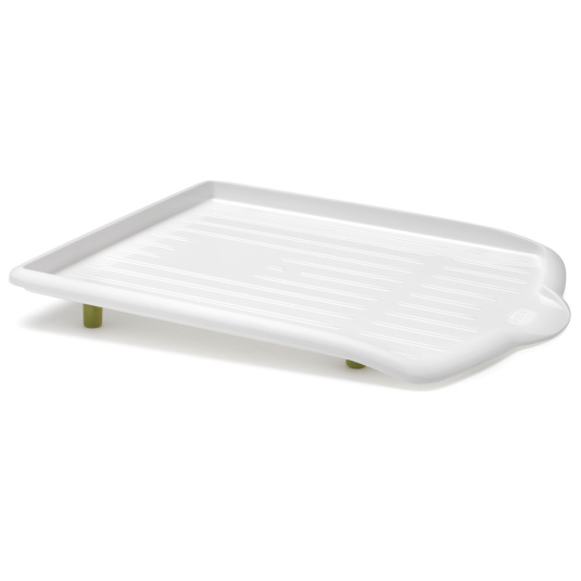 Addis Soft Touch White and Green Drip Tray