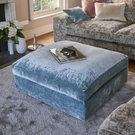 Quantum Large Fabric Square Footstool - Lifestyle | Housing Units