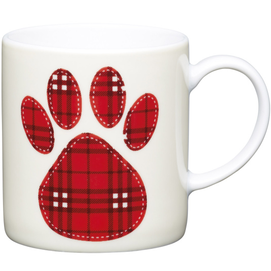Paw Print Porcelain Expresso Cup