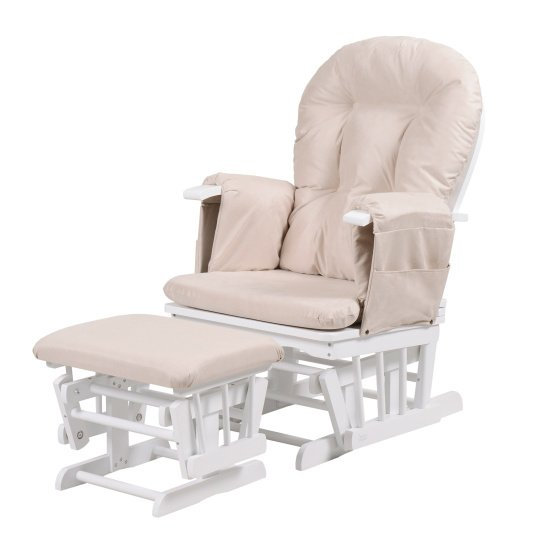 Kub Haywood White Glider & Footstool