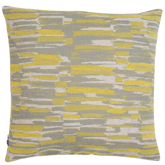 Malini Farnham Mustard & Grey Cushion